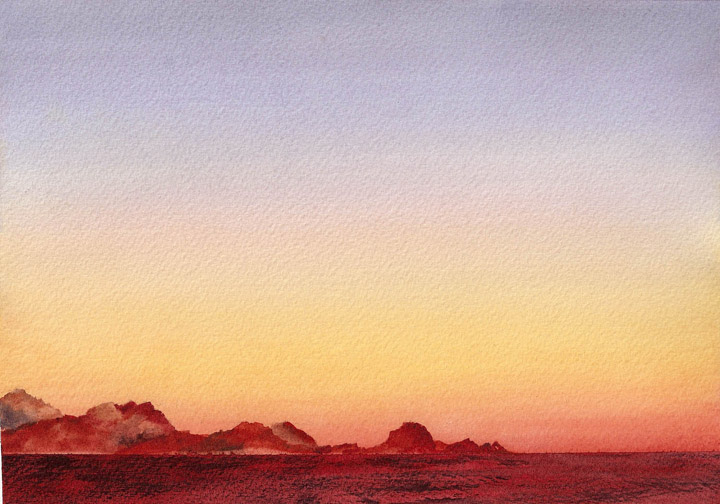 Watercolor Painting of Cabo San Lucas