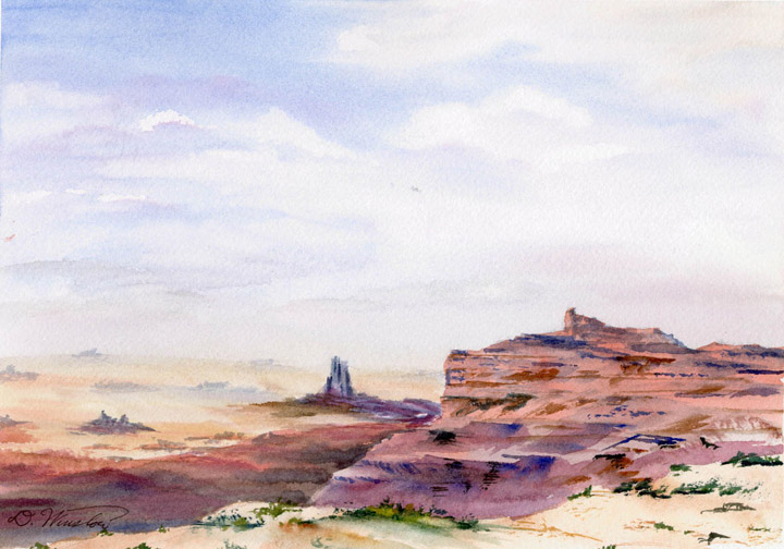 Watercolor Painting of Canyonlands National Park